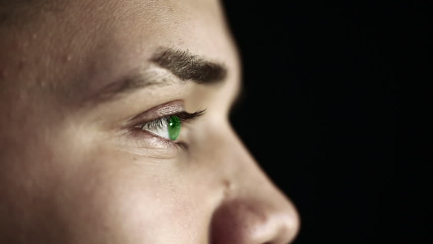 Closeup View Of Male Green Eye Stock Footage Video 6194750 ...