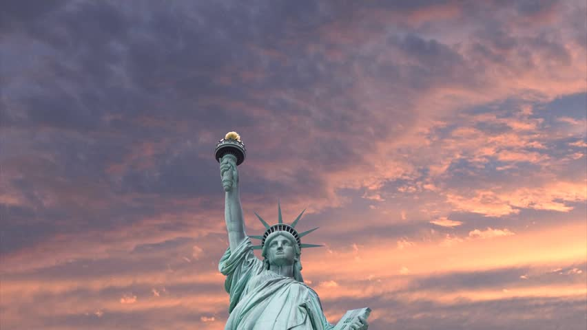 Statue of Liberty with Clouds | Shutterstock HD Video #7741105