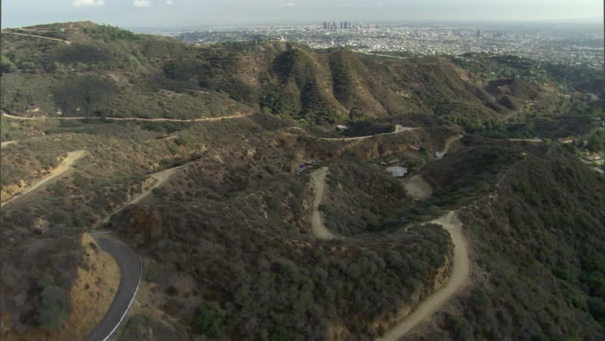 A panoramic view of mountains in Los Angeles, California.   Shutterstock HD Video #7752883