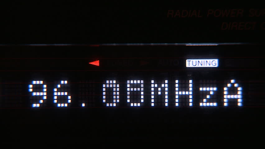 Digital radio receiver tune dial panel