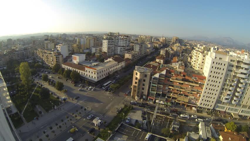 TIRANA, ALBANIA - OCTOBER 22: Panoramic view of Tirana on October 22, 2014 in Tirana, Albania | Shutterstock HD Video #7792375