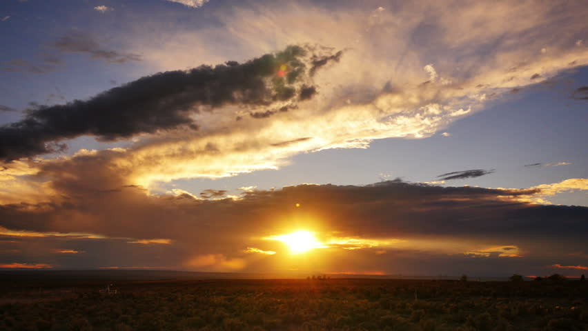Sunset in New Mexico 09 Zoom In Time Lapse USA | Shutterstock HD Video #7802875