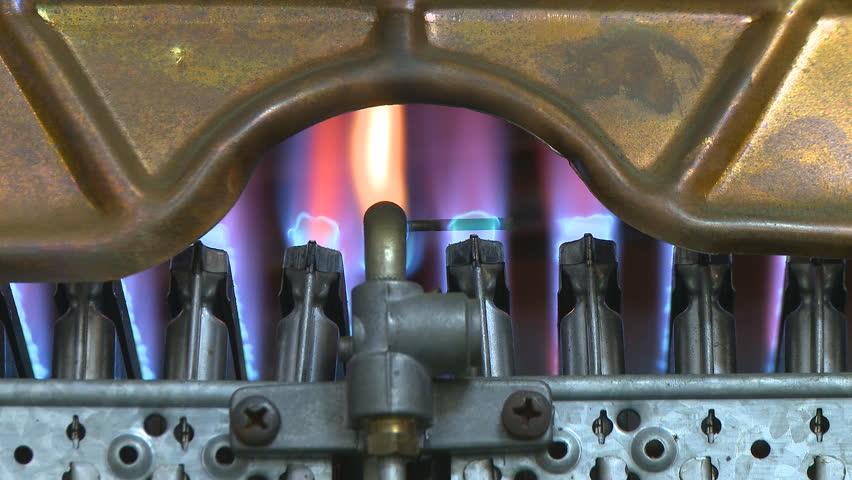 Stock video of gas boiler heater burning | 781765 | Shutterstock