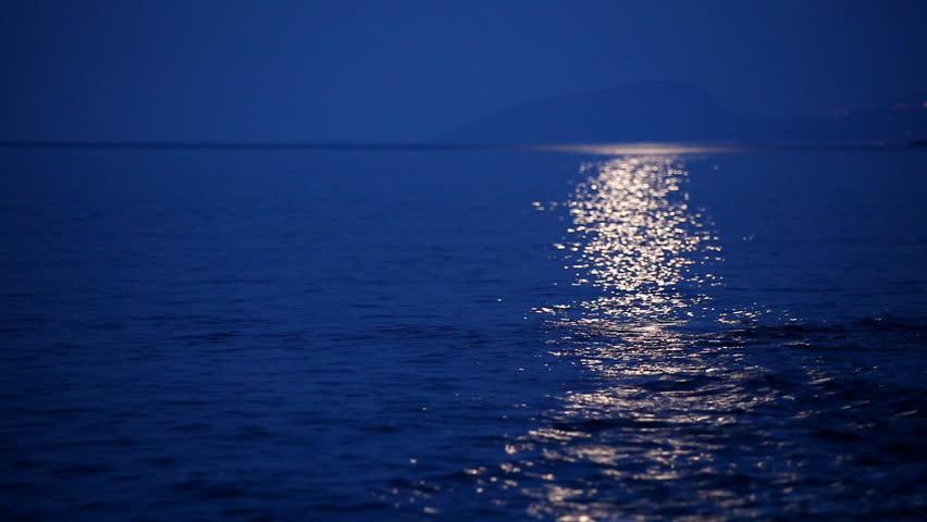 Moonlight on Sea Surface
