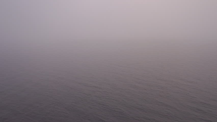 Really heavy fog on the Inside Passage as seen from the Alaska Ferry under way. #7853071