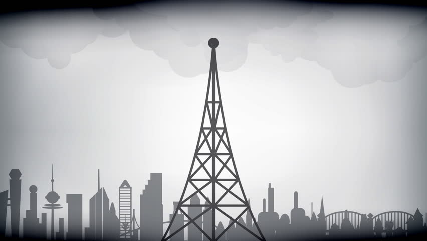Retro styled broadcast tower