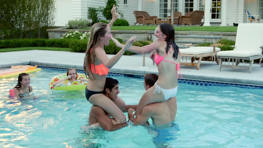 Petite teenage lesbians spend some good time at the pool party № 710585 бесплатно
