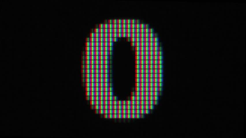LCD pixels countdown numbers | Shutterstock HD Video #7937254