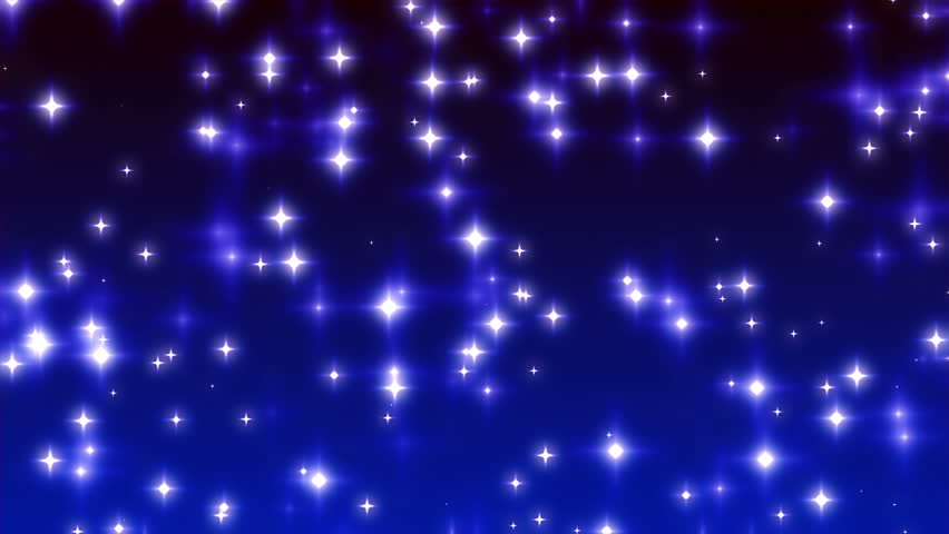Blue Twinkling Stars on Ramp Background Loop 1