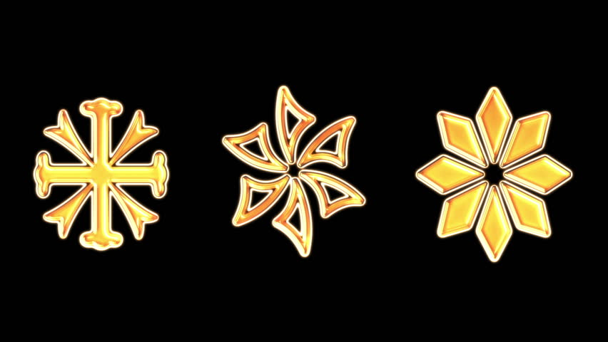 Snowflake. gold sign on fire, sign is burned, burning from the bottom up. Combustion.  Alpha Channel Is Included at the end.   Shutterstock HD Video #8028268