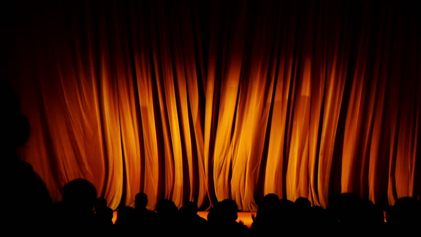 Theater Curtains With Alpha - Orange Stock Footage Video 3090079 ...