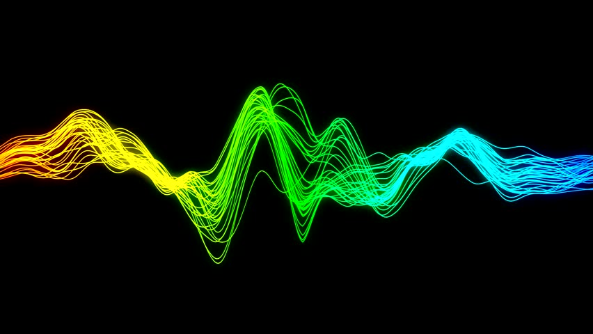 Acoustic Sound Waves : Audio wave stock footage video shutterstock