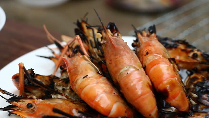 Grilling shrimp,Dolly