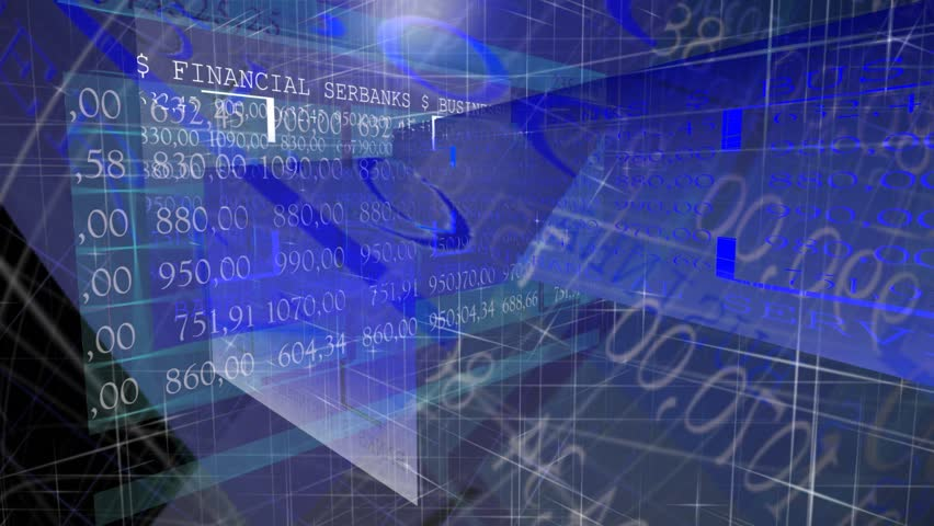 Stock market trading screen. Blue color. | Shutterstock HD Video #8069665