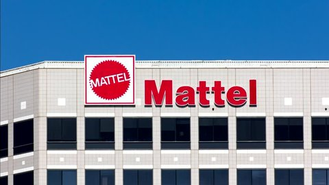 EL SEGUNDO, CA/USA - OCTOBER 13, 2014: Mattel world corporate headquarters building. Mattel, Inc. an American toy manufacturing company founded in 1945.