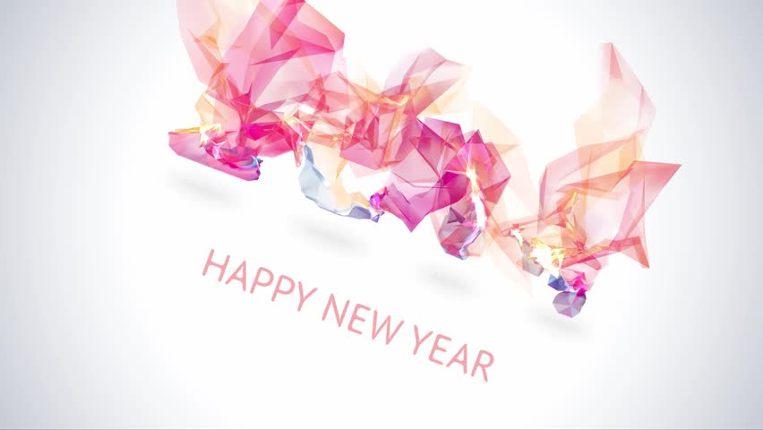 From 2014 to 2015 happy new year 2015 colorful royalty free video happy new year 2015 colorful greeting video made in polygonal origami style with cool effect holiday design greeting card banner or invitation m4hsunfo