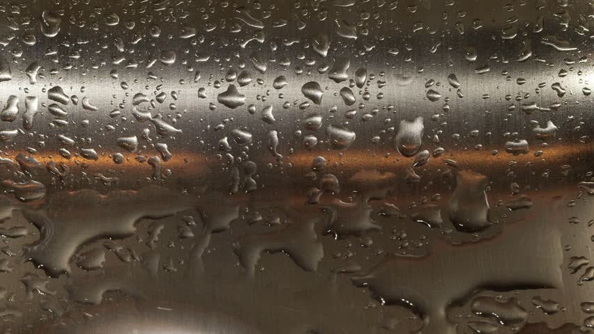 Water Dripping In Stainless Steel Kitchen Sink Stock Footage Video ...