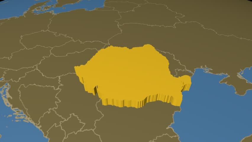 Seamless Looping D Animation Of The Map Of The Czech Republic - World map in czech language