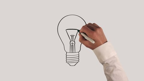 Light Bulb Whiteboard Animation with Sound