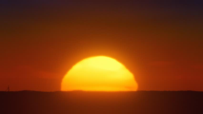 African sun closeup timelapse.