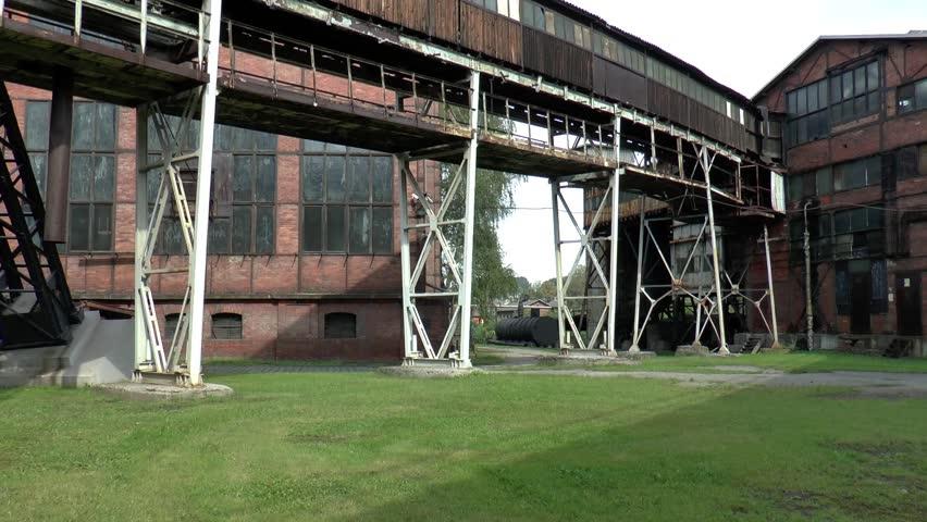 Mine Michal Ostrava courtyard Michal Mine | Shutterstock HD Video #8281525