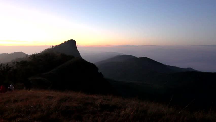 Morning Light peak mountain monjong ChiangMai Thailand | Shutterstock HD Video #8287315