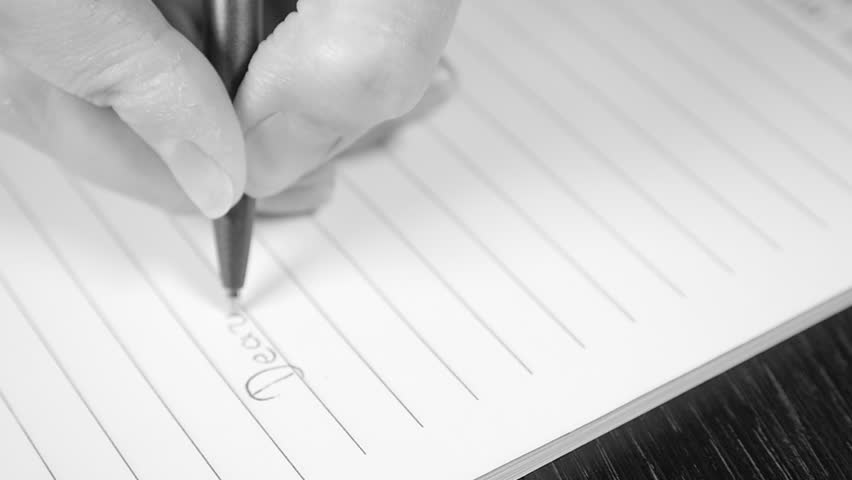 Romantic letter writing slow motion black and white 1080p hd footage romantic letter writing slow motion black and white 1080p hd footage dearest text love letter writing with pen slow mo bw 1920x1080 fullhd video stock thecheapjerseys Images