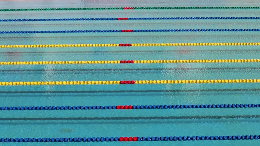 Swimming Pool Lane Lines Background track field for race,swimming pool stock footage video 8294314