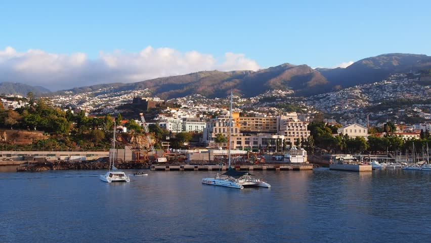 Cityscape of Funchal – capital city of Madeira Island, Portugal