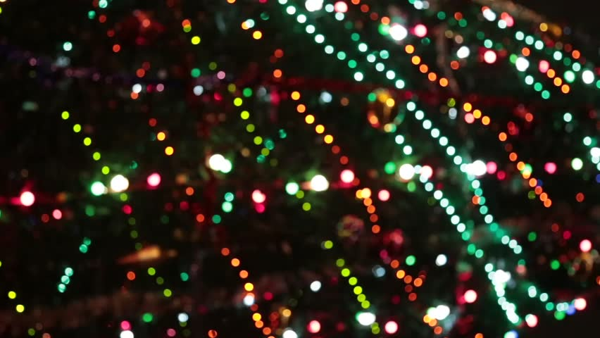 christmas and new year decoration abstract blurred bokeh blinking garland holiday background christmas tree - Christmas Light Strands