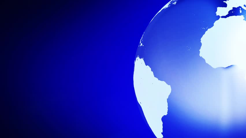 Earth art background loop simple animation of royalty free video earth art background loop simple animation of globe rotating with line art world map in a simple color background earth left blue background gumiabroncs Gallery