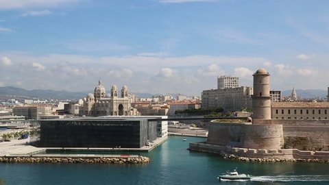 The Fort Saint-Jean in Marseille in France