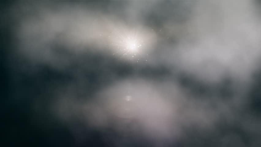 Sun Peeking Through Stormy Clouds Loop #843175