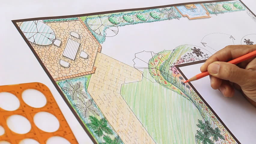 Garden Design Videos landscape architect design l shape garden plan stock footage video