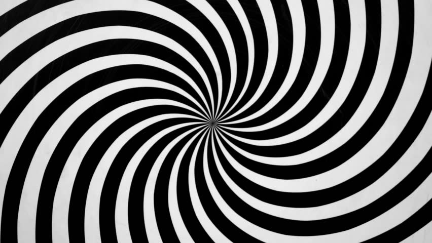 Black and White Spiral Spinning Stock Footage Video (100 ...