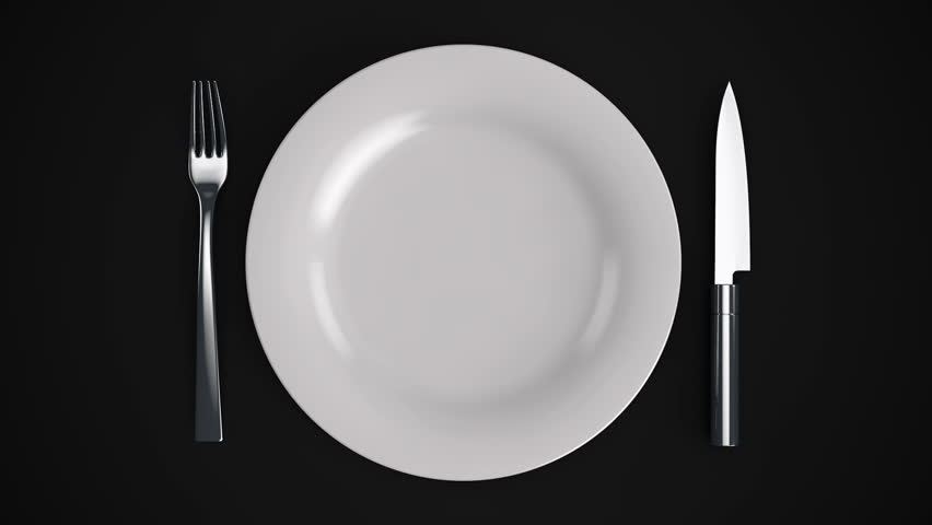Stock Video Of Empty Plate Move A White Plate 8470915