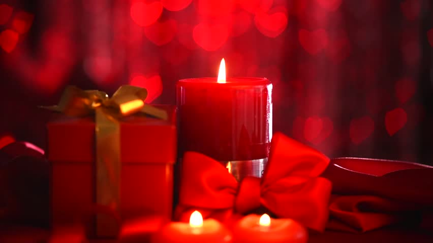 Christmas Candles Christmas And New Year Decoration With