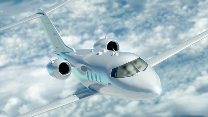 Luxury corporate air travel. Lear jet in HD.