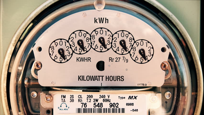 Electricity Meter (Time-lapse 4K) Electrical