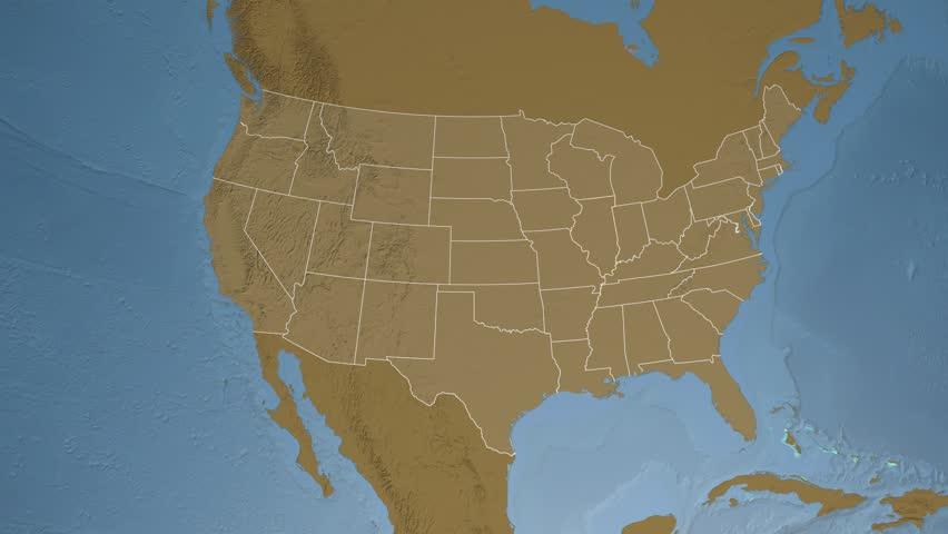 USA Oregon State Salem Extruded On The Elevation Map Of North - Oregon elevation map