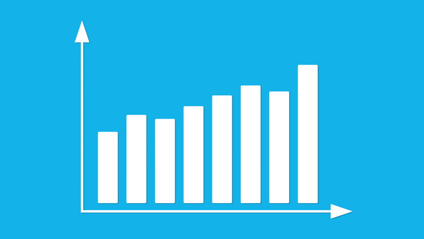 Set of bar graph with arrows axis grow chart statistic bar graph with arrows axis grow chart statistic business concept animation ccuart Images