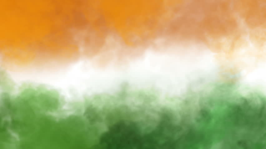India Flag Colors: Indian Flag HD. Looped. Stock Footage Video 1821566