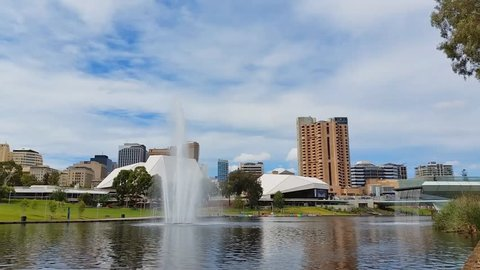 ADELAIDE, AUSTRALIA - JANUARY 12: The metropolitan area of Adelaide, South Australia. Adelaide city and the Adelaide Park Lands which surround North Adelaide and the city centre.