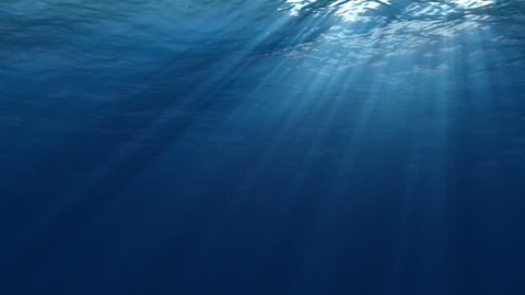 High quality Looping animation of ocean waves from underwater. Seamless loop, HD, high definition 1080p
