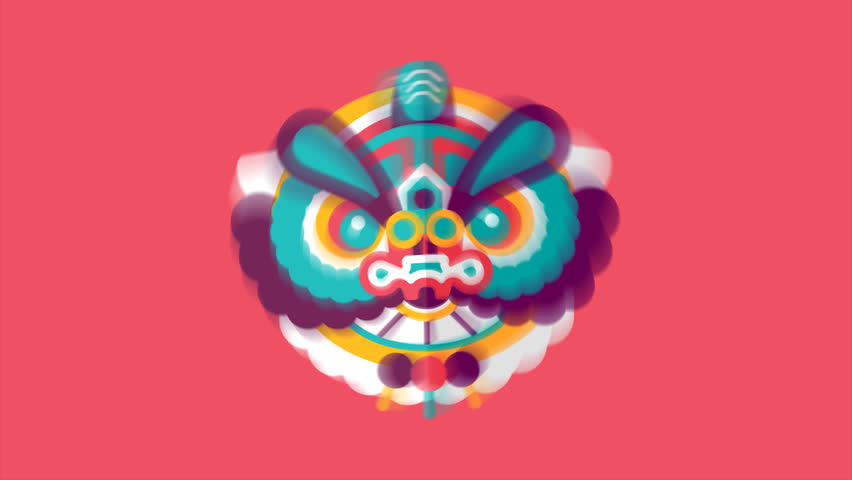 mexican sugar skull elements animation stock footage video
