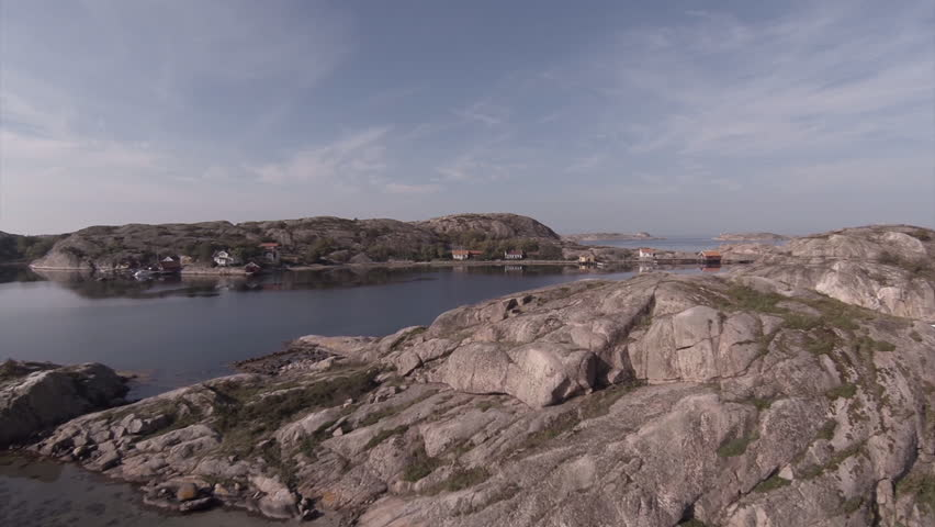 Aerial at Dyngoen, an island at the Swedish west coast