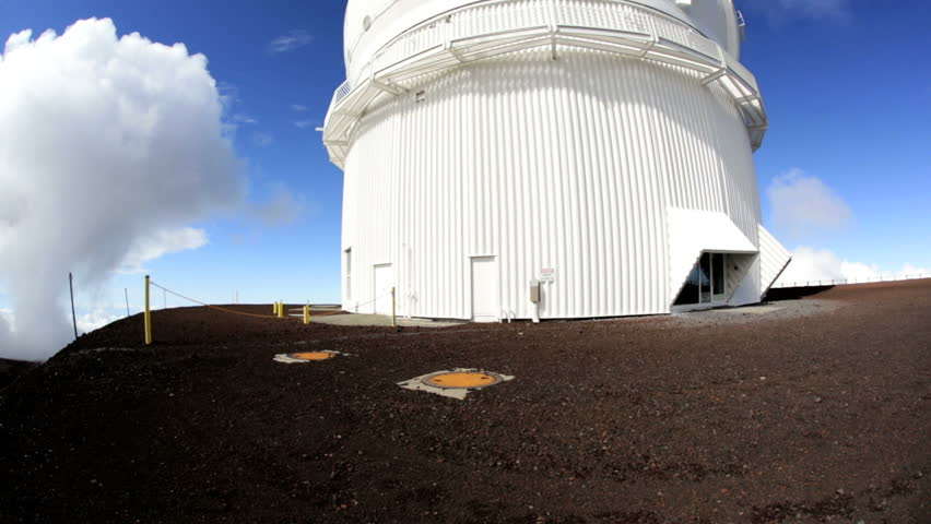 Space observatory Mauna Kea building future communications technology reflecting lenses images planetary science antenna celestial observation   Shutterstock HD Video #8725345