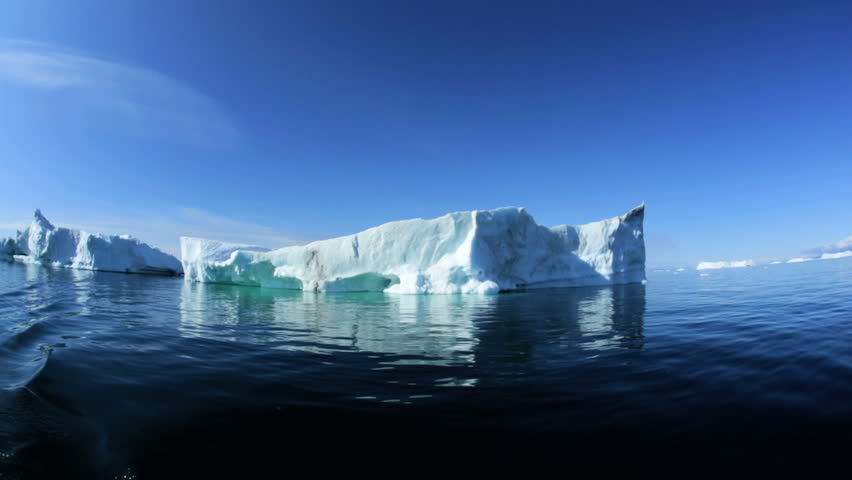 Ilulissat Icefjord Disko Bay UNESCO site arctic glacier ice floes melting climate nature exploration travel Greenland | Shutterstock HD Video #8733265
