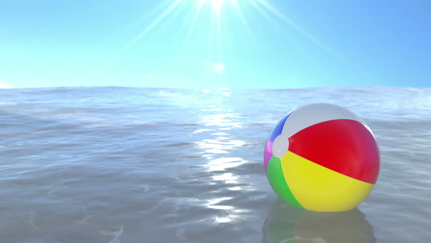 Interesting Beach Ball In Water Floating On The Loop Ready To Creativity Design