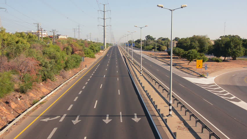 Rishon Lezion Israel October 4 2014 Two Cyclists Go One By One